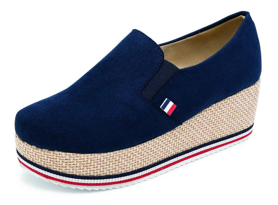 Zapato Dama Plataforma Suhey 6002 Negro Marino O Mostaza