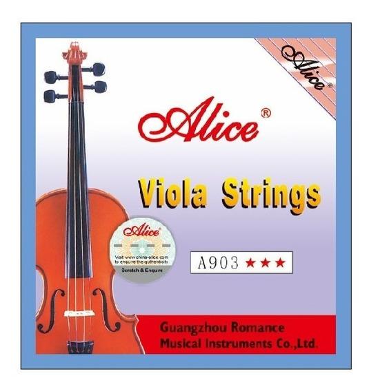 Set 4 Cuerdas Para Viola Alice A903
