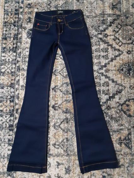 Jean Oxford Chupin Las Oreiro 25 Azul Elastizado