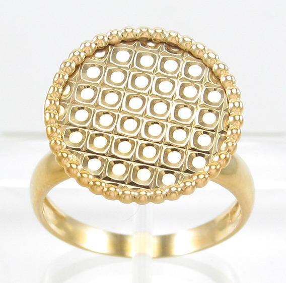 Esfinge Jóias - Anel Design Trabalhado Aro17 Ouro 18k 750.