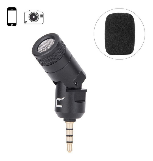 Microfone Compacto Comica Cvm-vs07 P/ Smartphones Dslrs