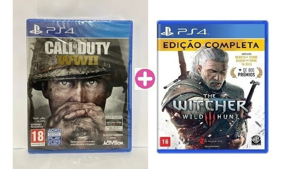 Call Of Duty World War Wwii + The Witcher 3 Wild Hunt - Ps4