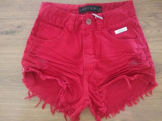Shorts Femininos Hotpants Destroyed Lady Rock Original