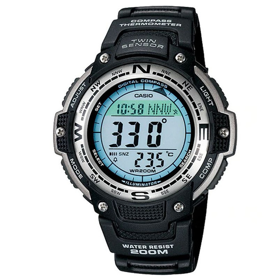 Relógio Casio Masculino Digital Preto Crono Sgw-100-1vdf