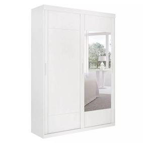 Guarda-roupa Solteiro Com Espelho Lorenzo Branco 2 Pt 2 Gv