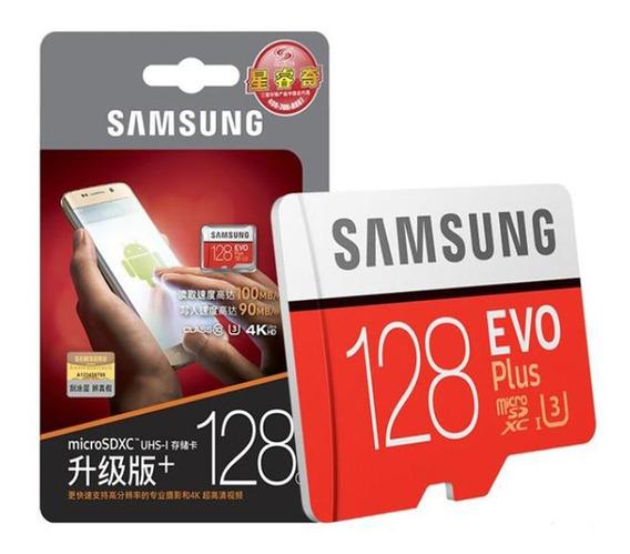 Microsd Sdxc Cartão Samsung Evo 128gb Class 10 100mb/s U3 4k