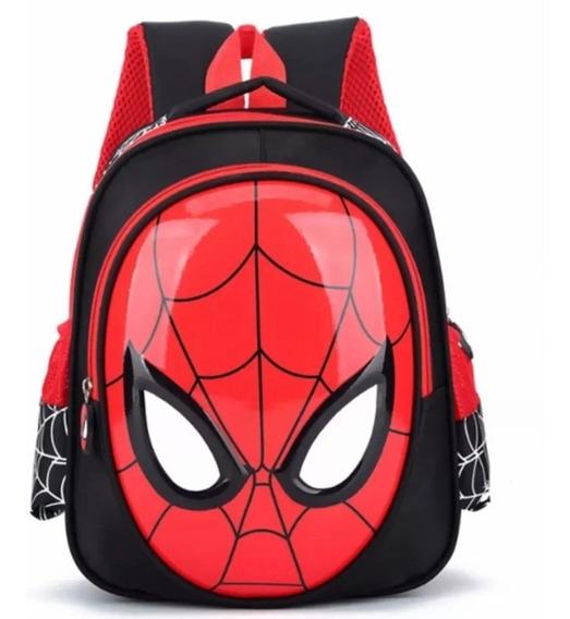 Mochila Bolsa Escolar Infantil Homem Aranha 3d Em Nylon Impermeável Super Resistente Frete Grátis
