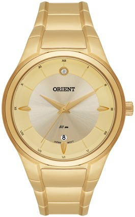 Relógio Orient Dourado Fgss1097 - 50m Novo, Nf, Garantia