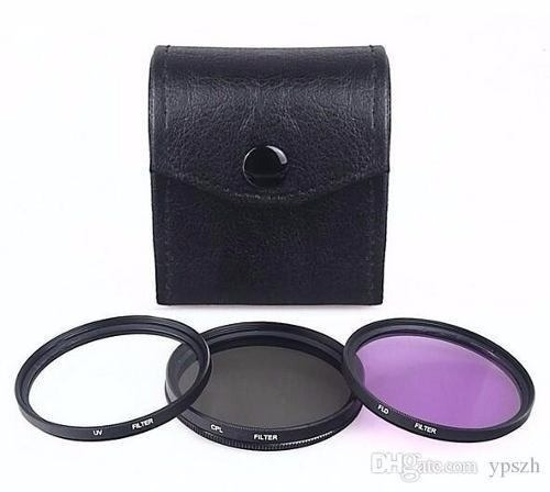 Kit Com 3 Filtros Uv+fld+cpl Lente De 72mm Canon Nikon Sony