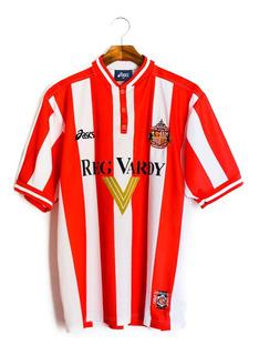 Camisa De Futebol Masculino Sunderland 1999/2000 Asics