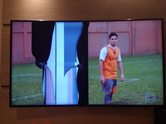 Tv Samsung 55 Curve Un55ju6700g Com Tela Trincada Funcionano