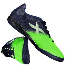 Chuteira Oxn Fusion Grip 2 Futsal Azul E Verde