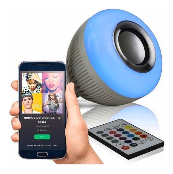 Som Lâmpada Musical Bluetooth 12w Várias Cores Jogo De Luz