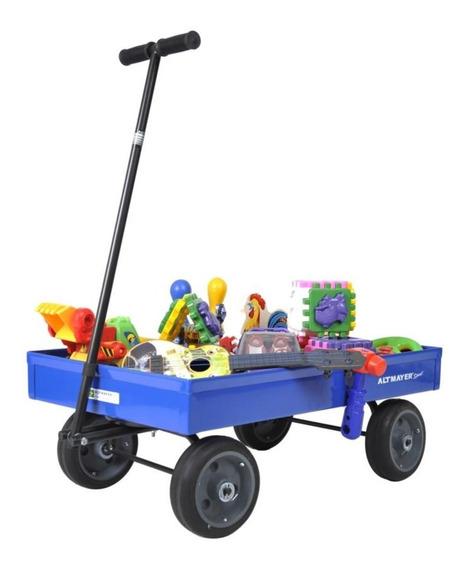 Carrinho De Puxar Americano Infantil Brinquedos Altmayer