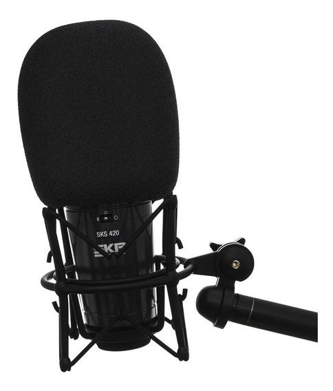 2 Espuma Filtro Pop Filter Samson Ws03 Microfone Estúdio