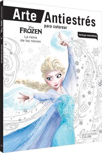 Imagen 1 de 3 de Colorea Frozen Arte Antiestres Libro Disney Mandalas Elsa