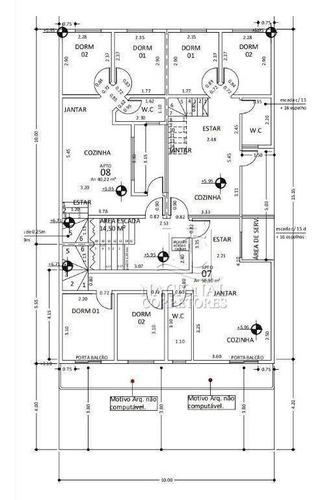 Cobertura Com 2 Dormitórios À Venda, 82 M² Por R$ 295.000,00 - Vila Pires - Santo André/sp - Co5045