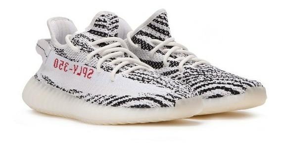 adidas Yeezy 350 Zebra Promoção + 01 Relogio De Brinde