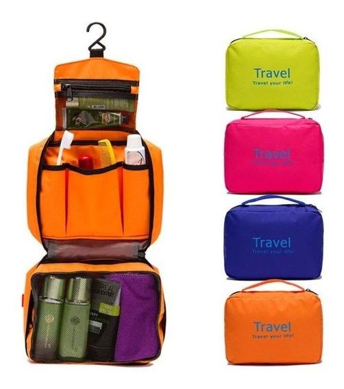 Organizador Neceser De Viaje Extensible Porta Cosmeticos