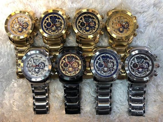 Relógio Bvlgari Skeleton (réplica)