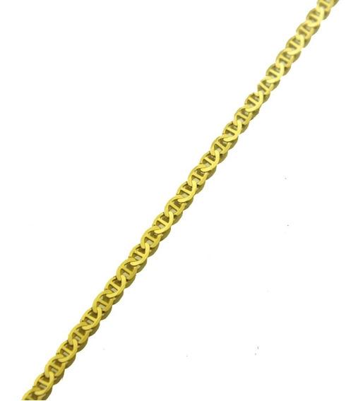 Corrente Elo Cadeado 40 Cm Em Ouro Amarelo 18k J21215