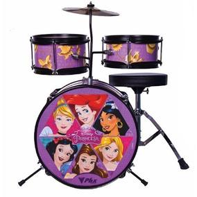 Bateria Disney Infantil Princesas Mosaico 3pç Phx Mostruário