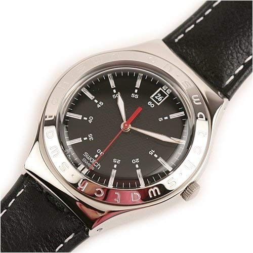 Relógio Swatch Twirl Black Ygs428c Suiço Novo Pulseira Couro