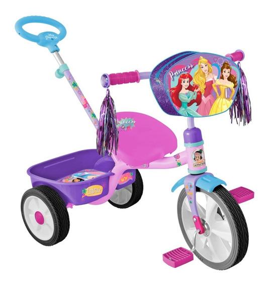 Triciclo Apache Princesas Rodada 10 Cajuela Y Baston