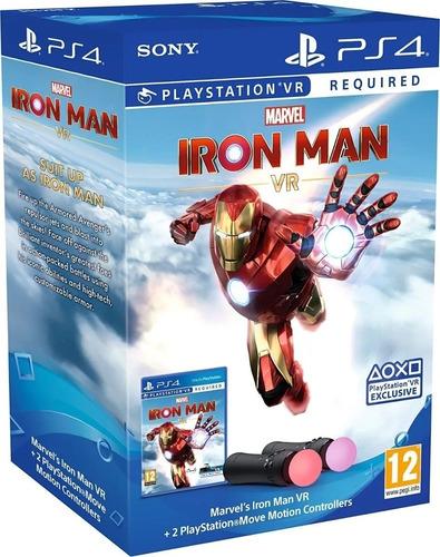 Imagem 1 de 2 de Playstation Move Kit/02 Controles + Marvels Iron Man Ps4