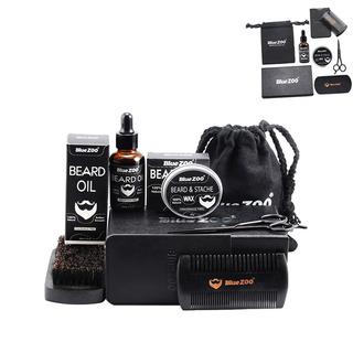 Professional Beard Shaping Tool Kit leegoal Kit de Recorte de Barba de Acero Inoxidable para el Cuidado de los Hombres