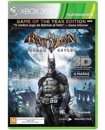 Batman Arkham Asylum - Xbox 360 - Novo - Lacrado - Física