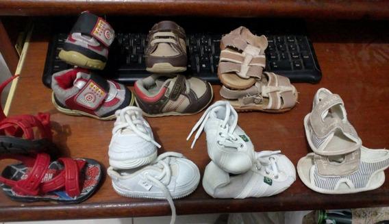 Sapatos Infatil Numéro 17 Lote Com 7 Pares Fotos Reais