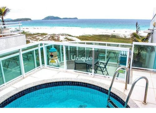 Cobertura Duplex C/ 4 Suítes, Vista Mar À Venda, 280 M² Por R$ 3.000.000 - Algodoal - Cabo Frio/rj - Co0082