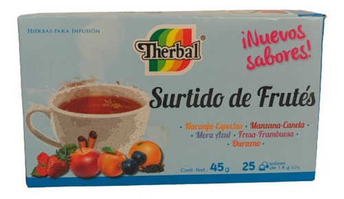 Te Surtido De Frutas Therbal 25 Sobres