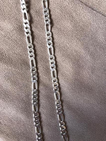 Cordão Prata Pura(tipo 950)masculino Elo 3 X 1 Tamanho 60 Cm