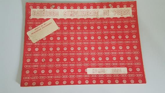 Raro Catálogo Simplificado De Peças Kombi Corujinha Manual