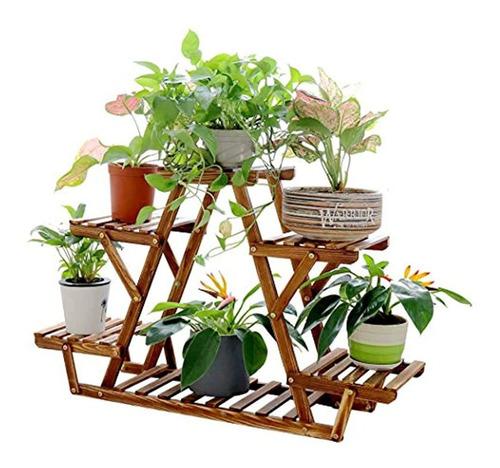 Estante Triangular Para Plantas De Interior Con 6 Macetas Mercado Libre
