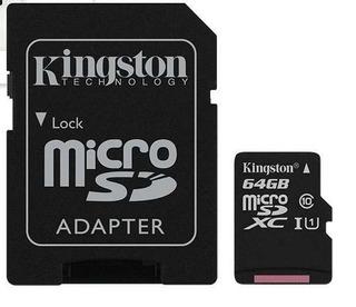 Memoria Kingston Micro Sd Xc 64gb Clase 10 Hd 80mb/s Read