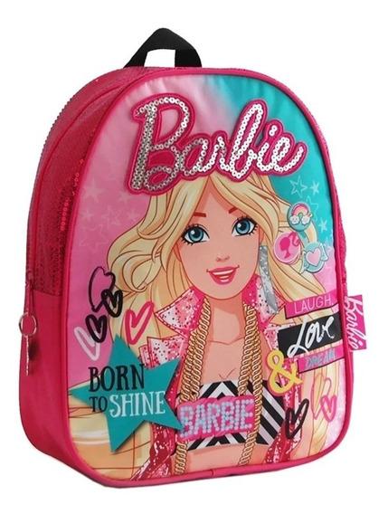 Mochila Barbie Espalda 13 Pulgadas Jardin Con Lentejuelas