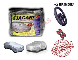 Capa Cobrir Carro Proteger Sol E Chuva 100% Imperm. + Brinde