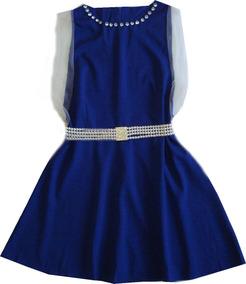 Vestido Saída De Praia Azul Moda Praia
