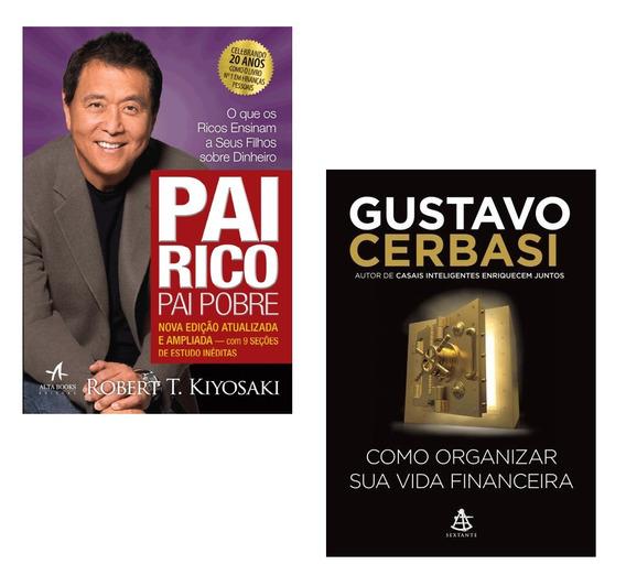 Livros Pai Rico + Como Organizar Sua Vida Financeira