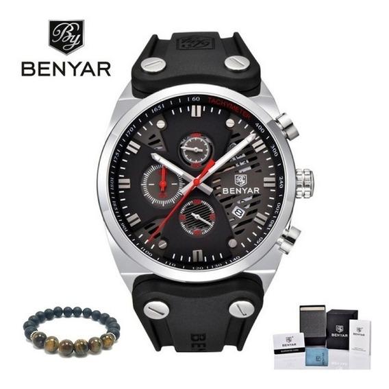Relógio Masculino Benyar Original Aviador Executivo Garantia