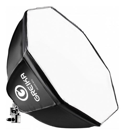 Octabox 55cm Softbox Octagonal C/ Difusor E Soquete + Grid