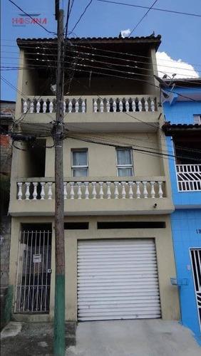 Sobrado Com 3 Dormitórios, 200 M² - Venda Por R$ 310.000,00 Ou Aluguel Por R$ 1.300,00/mês - Jardim Dos Reis - Franco Da Rocha/sp - So0036