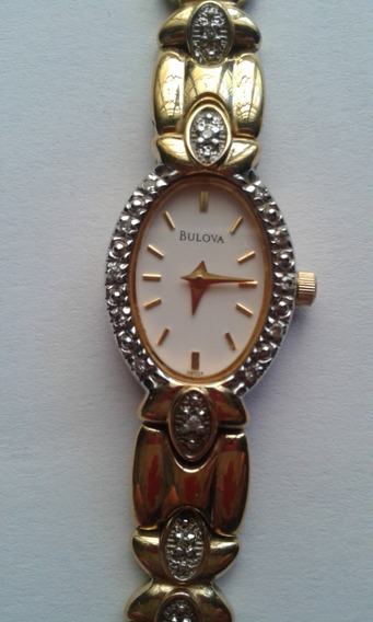 Relogio Bulova C869536 Ouro Brilhantes Raridade Antigo Femi