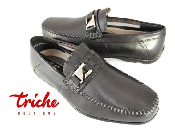 Calzado Zapato Caballero Negro Flexi 68609 Vestir Mokasín