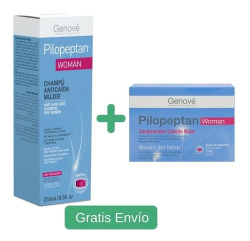 Pilopeptan Woman Capsulas + Champu Geno - L a $1200