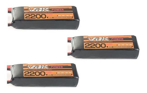 Promoção- 3 Bateria Vok 2200mah 3s 25c