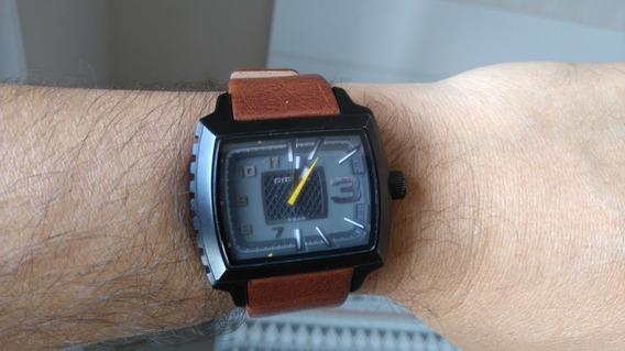 Relógio Diesel Original Com Pulseira De Couro